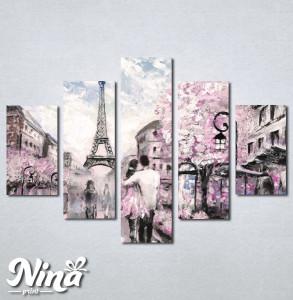 Slike na platnu Pariz zaljubljeni par Nina237_5