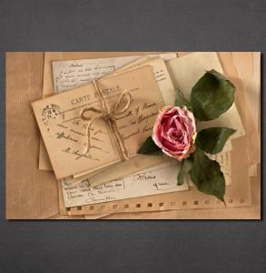 Slike na platnu Pismo i ruža Nina30133_P