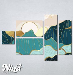 Slike na platnu Planina apstrakcija Nina321_5