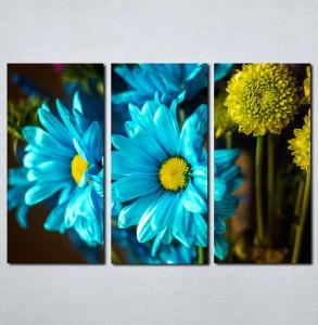 Slike na platnu Plavo i žuto cveće Nina075_3