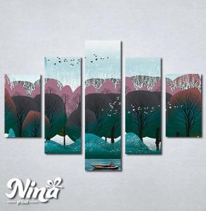 Slike na platnu Priroda apstrakcija Nina292_5