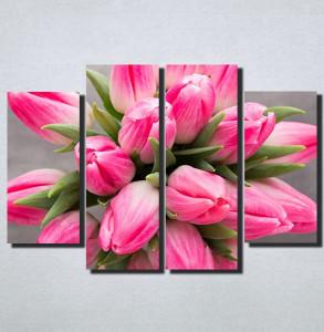 Slike na platnu Roze Tulipani Nina159_4