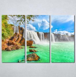 Slike na platnu tirkizni vodopad Nina140_3
