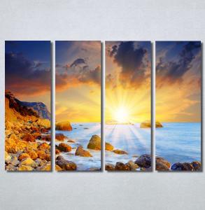 Slike na platnu Zalazak sunca i more Nina30218_4