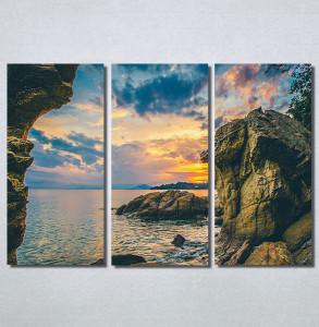 Slike na platnu Zalazak sunca i stene Nina30201_3