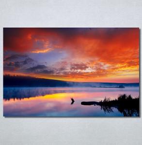 Slike na platnu Zalazak sunca na jezeru Nina30259_P