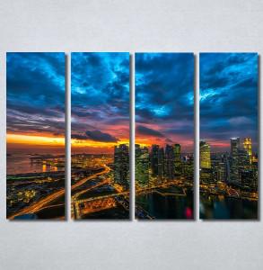 Slike na platnu Zalazak sunca u gradu Nina30247_4