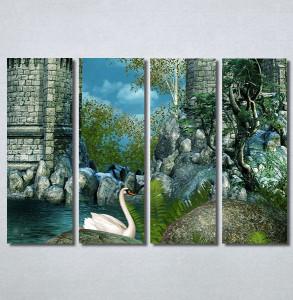Slike na platnu Zamak i labud Nina30257_4