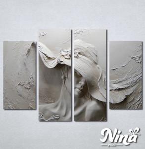 Slike na platnu Zena sa sesirom Nina330_4