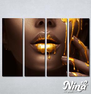 Slike na platnu Zlatna boja na usnama Nina328_4
