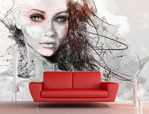 Foto tapeta Devojka sa svetlim ocima apstrakcija_Tapet116