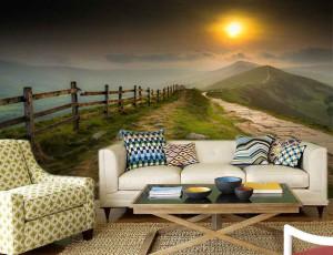 Foto tapeta Planinski zalazak sunca Tapet180