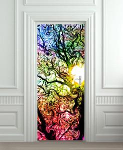 Nalepnica za vrata Art boje 6096