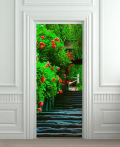 Nalepnica za vrata Cvetna basta 6177
