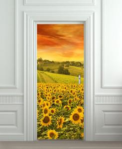 Nalepnica za vrata Polje suncokreta 6156