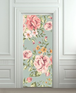 Nalepnica za vrata Retro ruže 6153