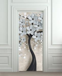 Nalepnica za vrata Ukrasno drvo 6213