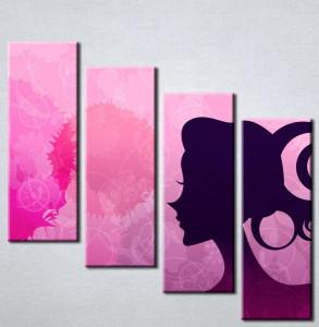 Slika na platnu Devojka silueta Nina3068_4