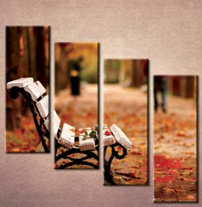 Slika na platnu Klupa u parku 3001_ 4
