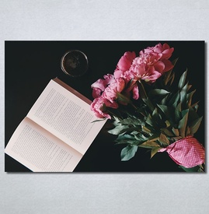 Slike na platn Buket cveca i knjiga Nina30243_P