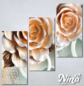Slike na platnu 3d Bež ruža Nina315_3