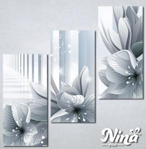 Slike na platnu 3d cvece Nina324_3