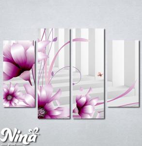 Slike na platnu 3d Ljubicasti cvet Nina345_4
