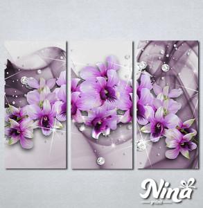 Slike na platnu 3d Ljubičasto cvće Nina316_3