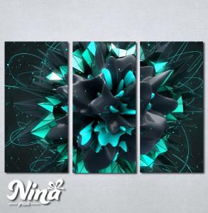 Slike na platnu Apstrakcija cvet Nina233_3