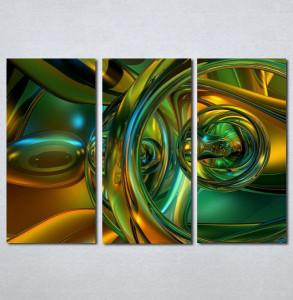 Slike na platnu Apstrakcija zeleno Nina121_3