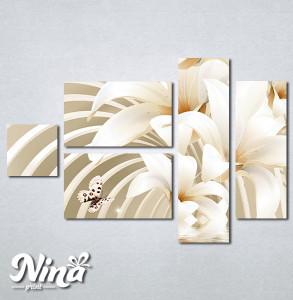 Slike na platnu Beli cvet i leptiri Nina279_5