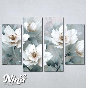 Slike na platnu Beli cvet Nina262_4