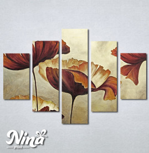Slike na platnu Braon cvet Nina303_5