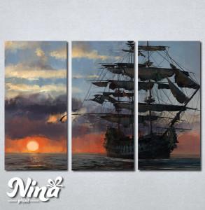 Slike na platnu Brod Nina247_3