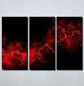 Slike na platnu Crno crvena apstrakcija Nina105_3