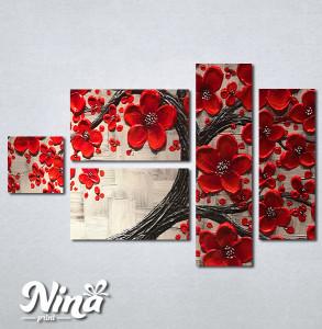 Slike na platnu Crveno drvo Nina263_5