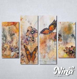 Slike na platnu Cvet i leptiri Nina244_4