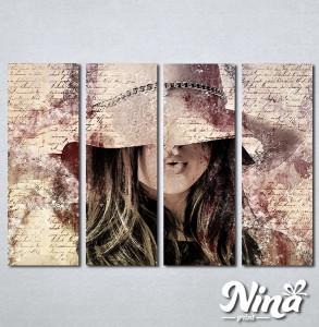 Slike na platnu Dama u šeširu Nina312_4
