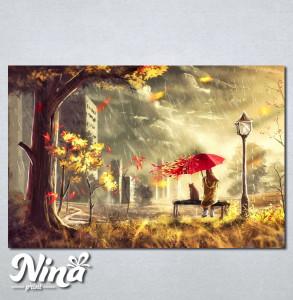 Slike na platnu Devojcica i macka Nina243_P