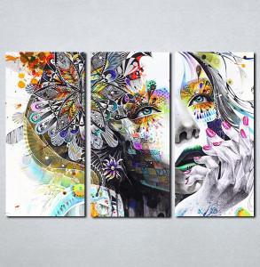 Slike na platnu Devojka boje apstraktno Nina086_3