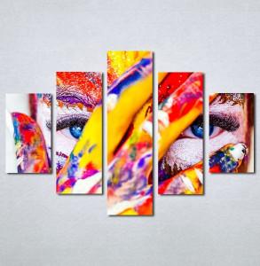 Slike na platnu Devojka color Nina133_5