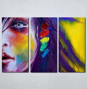 Slike na platnu Devojka i boje Nina016_3
