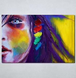 Slike na platnu Devojka i boje Nina016_P