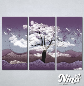 Slike na platnu Drvo i ptice Nina325_3