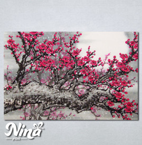 Slike na platnu Drvo roze cvet cvet 234_P