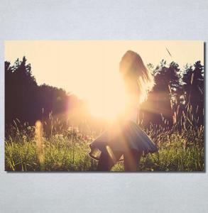 Slike na platnu Girl and sunset Nina30169_P