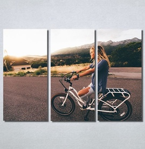 Slike na platnu Girl on bike Nina30186_3