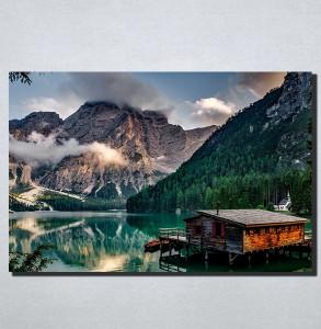 Slike na platnu Kucica na jezeru Nina174_P