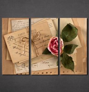 Slike na platnu Pismo i ruža Nina30133_3