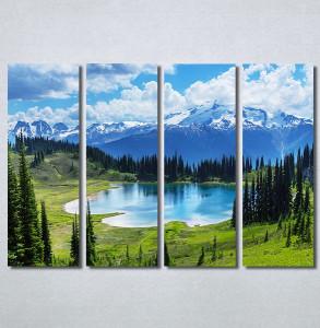 Slike na platnu Planinsko jezero Nina30320_4